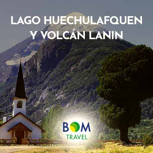 andes-exc---Lago-Huechulafquen-y-Volcán-Lanin-